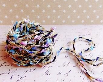 Carnival black & pastel multicolor Confetti Twist novelty ribbon- fiber art european specialty trim scrapbook embellishment gift wrap supply