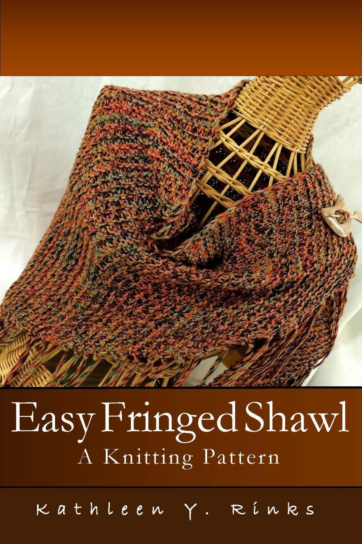 Pattern: Easy Fringed Shawl A Knitting Pattern