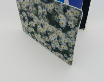 Oyster card holder, bus pass holder, travel card holder,wallet. Photographic daisy card holder.Card wallet, Oyster card wallet, card holder.