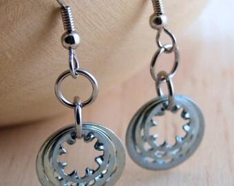 Hardware Drop Earrings Steampunk Dangle Earrings Hardware Jewelry Industrial Eco Friendly