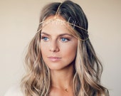 CHAIN HEADPIECE- boho chic head chain headdress chain headpiece. double chain