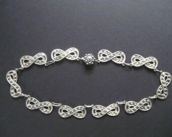 Infinity Symbol Necklace India Silver Vintage