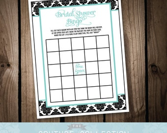 Bridal Shower BINGO Game - Breakfast at Tiffanys Bridal Shower - Printable Digital File