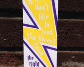 Letterpress Bookmark - J.K. Rowling Quote / Harry Potter