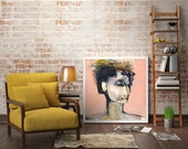 Large Wall Art, Portrait Art Print, Large Poster, Portrait Painting, Face Art, Ballerina
