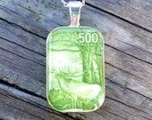 Spirit of the Woods Postage Stamp Necklace