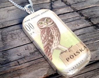 Tawny Owl Pendant Necklace