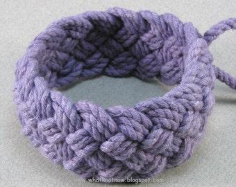 purple rope bracelet nautical style woven bracelet turks head knot armband sailor bracelet 640