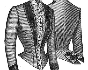 Truly Victorian Ladies 1887 Alexandra Bodice Sewing Pattern TV466