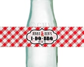 I do Barbeque custom water bottle labels self adhesive waterproof wedding party vinyl personalized labels