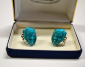60s blue Devil Noh mask cuff links by Selro