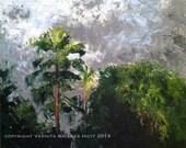 RESERVED for LM until June 10, First Light, a V Bridges Hoyt oil painting