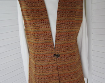 Vest, Long, Multicolor for Women from 70s - Size M
