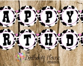 Farm Friends Party - Custom Cow Happy Birthday Banner by The Birthday House