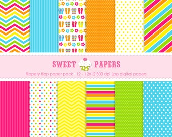 Flippety Flop Digital Paper Pack - Commercial or Personal Use by Sweet Papers