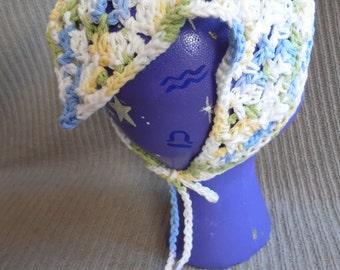 Cool Breeze Kerchief, Tie On Bonnet, USA Grown Cotton Summer CLEARANCE EVENT
