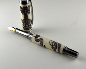 The Dark Striker - Norwegian Themed - Limited Edition Fountain Pen #2