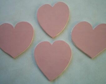 H4P - Large PINK Hearts - Ceramic Mosaic Tiles