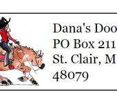 Reining Horse Return Address Labels 120