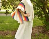 Vera Outfit Blouse Skirt 70s Boho Groovy Rainbow