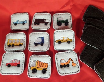 Trucks Memory Match Game