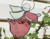 Guardian Angel Stained Glass Suncatcher in Purple