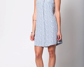 The Summer Blue Floral Print Dress