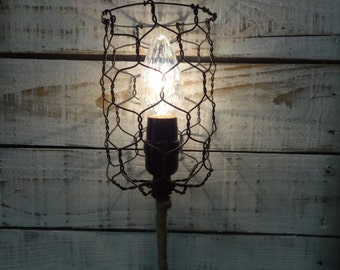 Handmade Hanging Caged Pendant Lamp