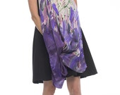 Silk satin shawl scarf Hand painted scarf Purple abstraction Large shawl painted Lavender silk satin scarf Pop art style Silk painting Klara