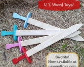 Wooden Toy Sword - a Waldorf inspired pretend play knight fantasy lotr toy