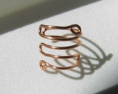 Handmade Wire Ear Cuff Zigzag - No Piercing Earring Cartilage Wrap Jewelry - Pick a Color - Style #3