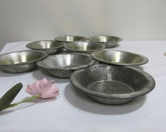 Tart Tins Set of 8 Aluminum Pot Pie Pans