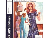 1970s Vintage Dress Tunic Pants Pattern McCalls Post Cereal C, Scoop Neck Dress or Top and Trousers Womens Sewing Pattern Bust 34 UNCUT