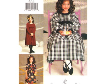 Girls Dress Pattern Vogue For Me 9348 Size 2 3 4 Holiday Dress Formal Empire Dress Flared Skirt Long Sleeves Girls Sewing Pattern UNCUT