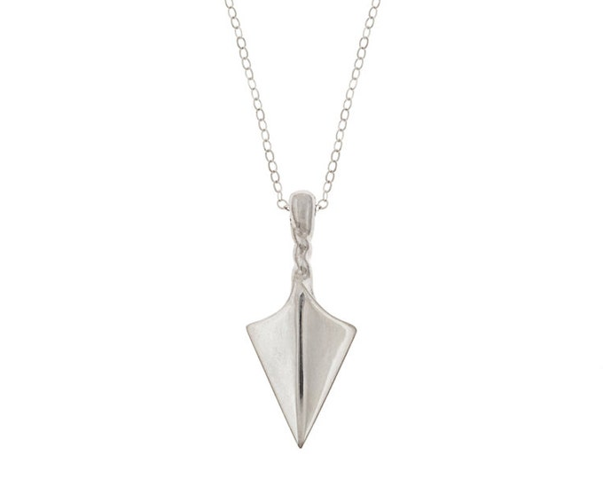 Arrow Point Talisman Necklace in Sterling Silver