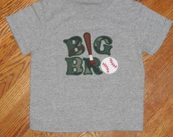 Big Bro or Litle Bro Baseball Shirt