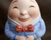 Rare Vintage Humpty Dumpty Ceramic Music Box Revolves 80s Mother Goose Series FavoriteCollectibles