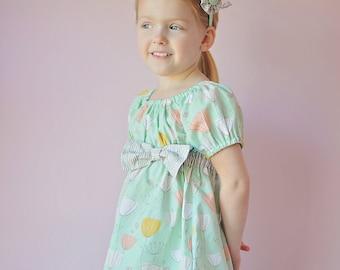 Back to School  SEW CLASSIC Empire Waist Peasant Dress Pattern - Girl Dress Pattern - PDF Sewing Pattern Sizes 6m-14c