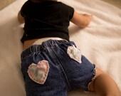 Baby Cutoff Distressed Denim Shorts