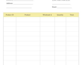 Product line sheet   Etsy