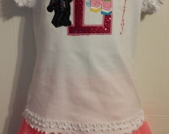 Lego Girl Wild Style Unikitty Letter Name Embroidered shirt or onesie or tank