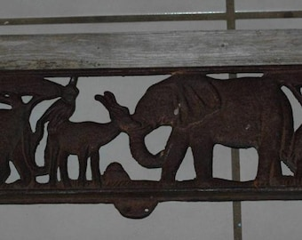 Vintage Cast Iron Animal Wall Hanging or Wood Bench Insert