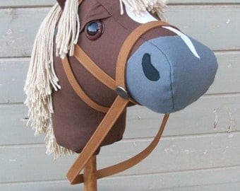 "MADE TO ORDER Mustang Collection ""Flaxen Chestnut"" Stick Horse or Pony Ready to Ride"
