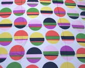 2.4 yards VTG fabric: multi striped circles