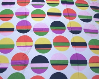 2.4 yards VTG fabric: multi striped circles