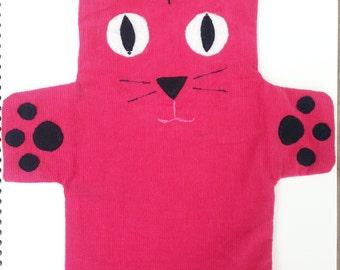 Pink Cat Hand Puppet