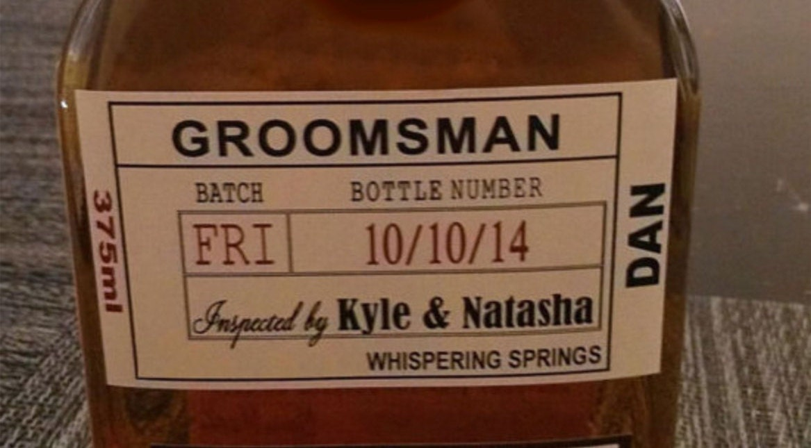 Custom wedding groomsman liquor labels for your best man and for Groomsman liquor bottle labels