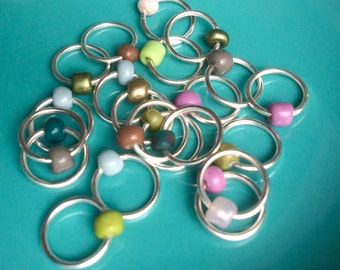 Snag Free ring stitch markers, ringos,knitting - MADMEN
