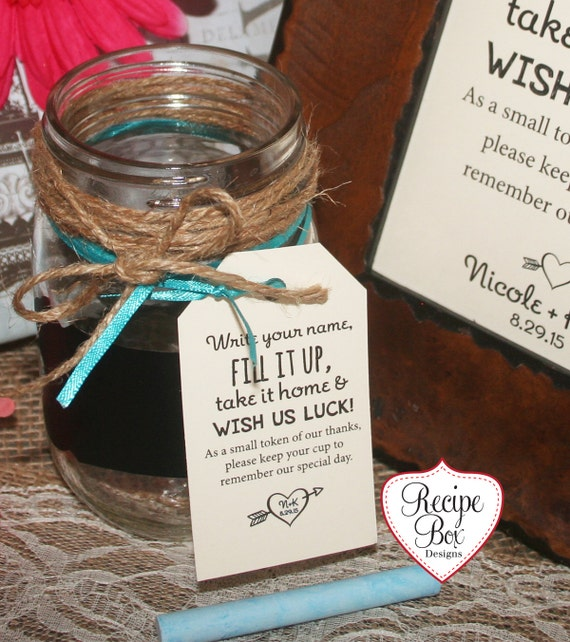 Wedding Favor Tags For Mason Jars : Mini Wedding Favors Mason Jar wedding Favor Tags, Wedding Favors, Fill ...