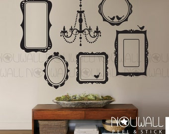 Photo Frames Wall Decal Elegant Chandelier Wall Sticker Living Room Wall Decals wallpaper